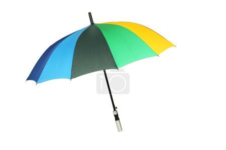 Colorful open umbrella