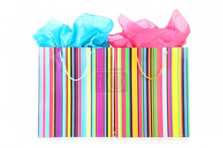 Colourful paper shopping bags