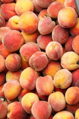 Ripe peaches fruit