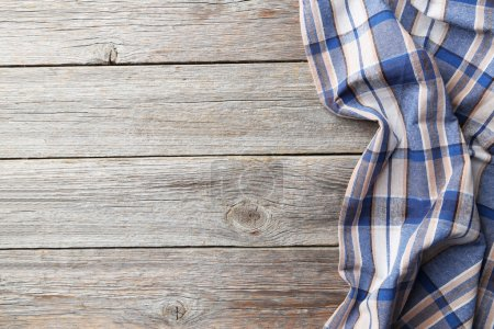 Photo for Napkin on grey wooden background - Royalty Free Image