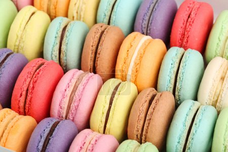 Photo for Tasty delicious french macaroons - Royalty Free Image