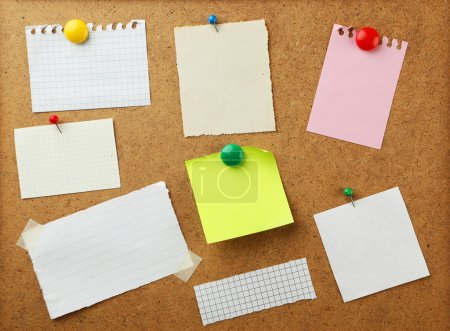 Pieces of note paper