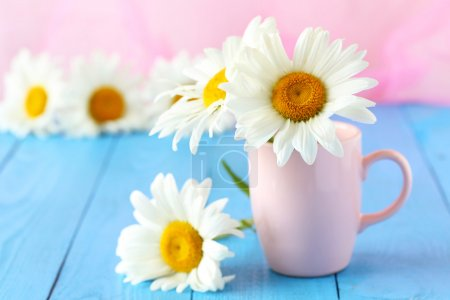 Chamomile flowers in cup