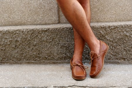 brown moccasins shoes