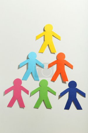 Colorful paper people