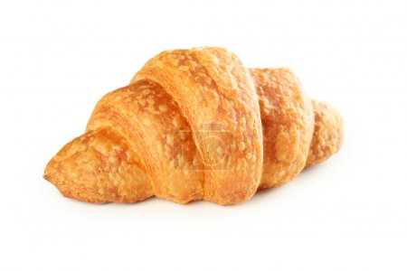 Photo for Tasty fresh  croissant isolated on a white - Royalty Free Image