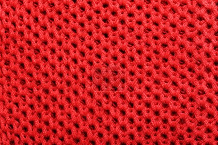 Photo for Knitted woolen fabric background, close up - Royalty Free Image