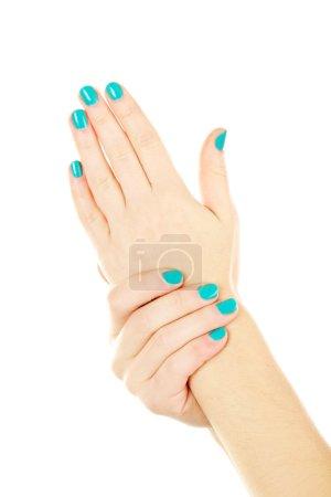 Female hands gestures