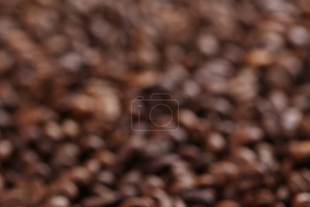 Roasted coffee beans bokeh