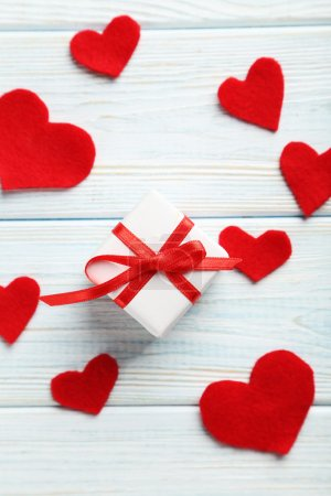 Love hearts with gift box
