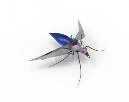 Photo for Concept of a Mosquito Nano Robot - Royalty Free Image