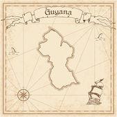 Guyana old treasure map