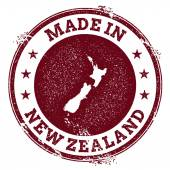 New Zealand vector seal Vintage country map stamp Grunge rubber stamp with Made in New Zealand text and map vector illustration