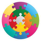 Round puzzle - 13 parts