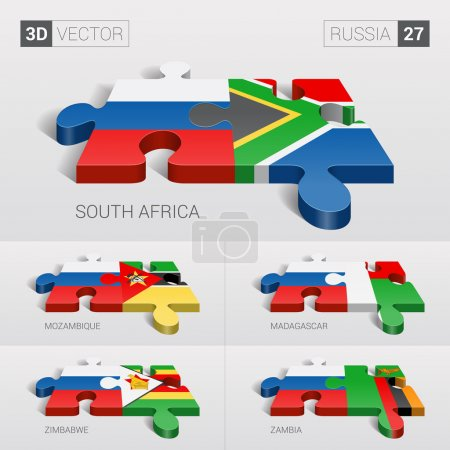 Russia and South Africa Mozambique