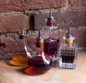 Lékařské sklenice s barevnými lektvary