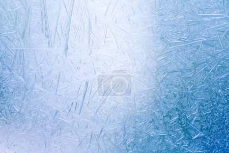 Ice crystals formed on the inside surface of windows.