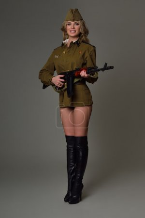 Photo for Beautiful girl in uniform - Royalty Free Image