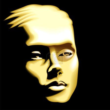 Illustration for Gold mask - Royalty Free Image