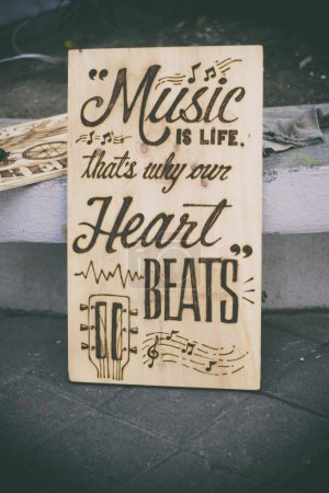 Artistic music poster