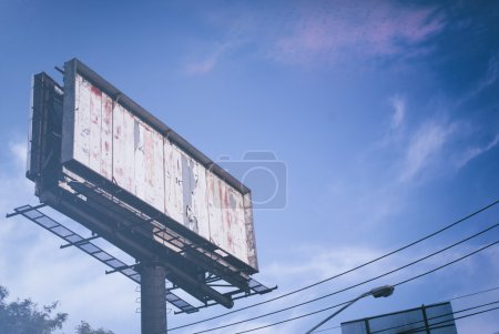 empty billboard on street