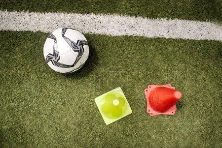 Soccer ball on a grass field