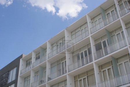 White apartments building