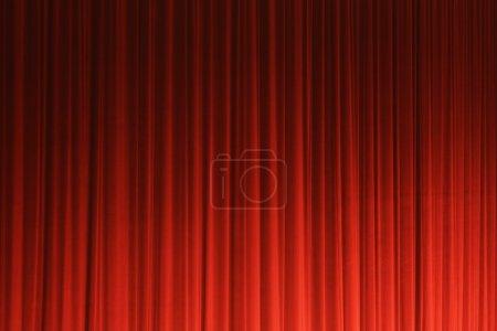 Photo pour Rideau de théâtre rouge texxture, fond - image libre de droit