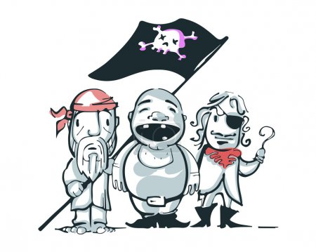 Pirates Hand drawn,vector illustration