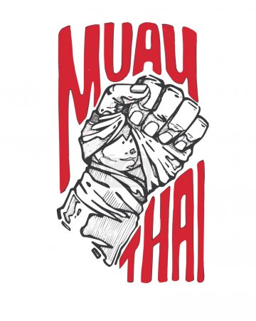 Muay Thai banner with fist
