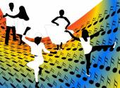 Illustration of dancers