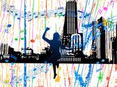Illustration of music city