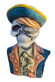 Pirate ghost statue isolate on white background.