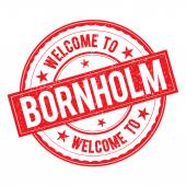 Welcome to BORNHOLM Stamp Sign Vector