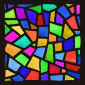 Vector stained-glass window Watercolor handmade
