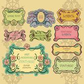 Set of ornate vintage labels Vintage border pack