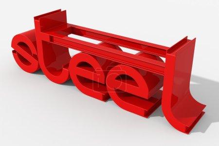 logo 3D z belek stalowych