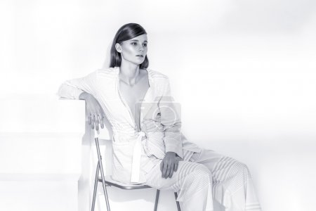 Photo pour Modèle, blanc, vêtements, pose Fashion blond clair de Brunete - image libre de droit