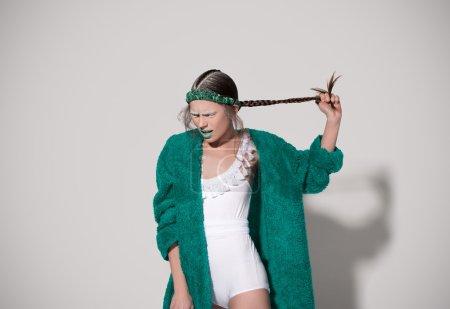 Photo pour Photo shoot in the style of fashion - image libre de droit