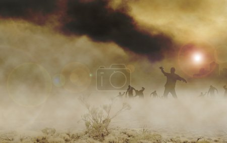 Zombies wüsten horizontal