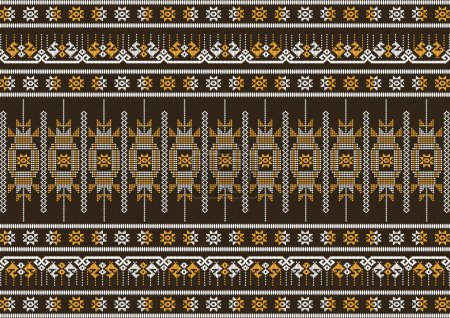 silk cloth brown and orange pattern