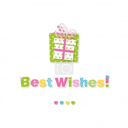 Birthday gift best wishes greeting card