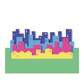 Colorful cityscape illustration