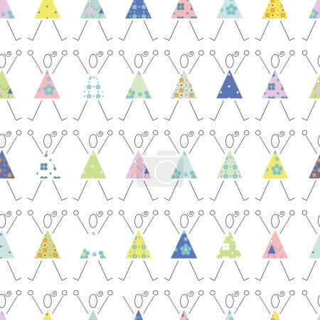 Cheering girls pattern