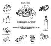 Greek salad recipe Black and white