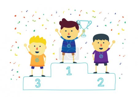Three ranking winner kids