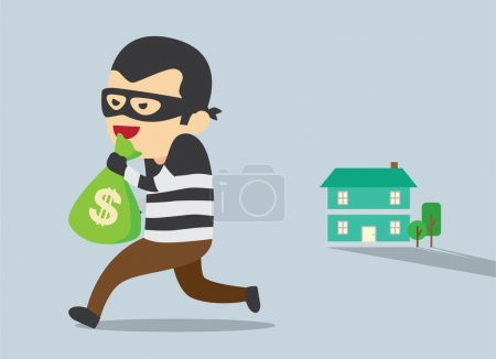 Steal money form house