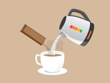 Making instant coffee