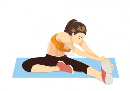 Cool down stretches leg after exercise