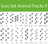 Icon Set Animal Tracks II with 20 icons for the creative use in graphic design